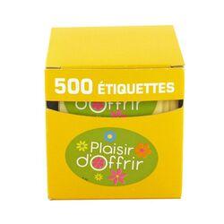 Etiquette adhésive Plaisir d'Offrir vert / blanc fleurs (x500)