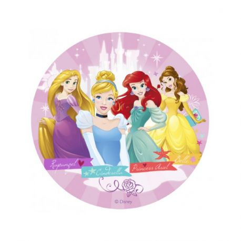 Disque gâteau Princesses 16 cm