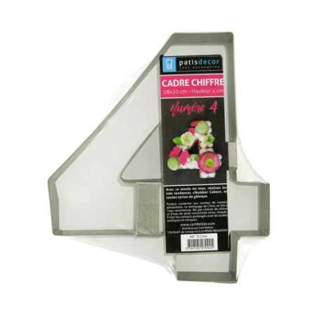 Moule number cake chiffre 4 inox