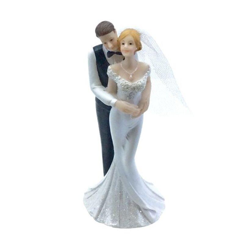 Couple de mariés romantiques 15,5 cm