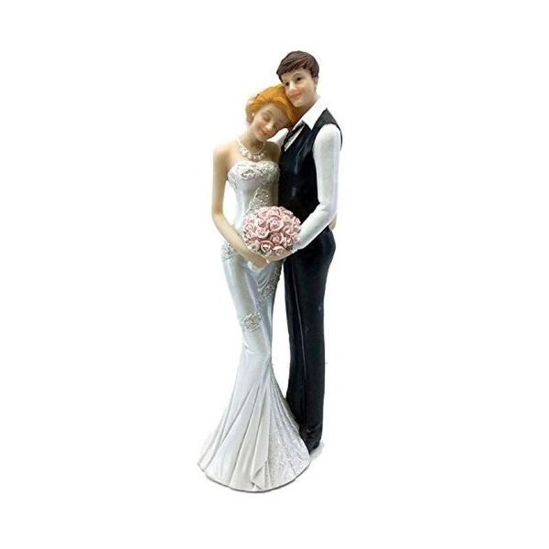Couple de mariés tête sur l'épaule 25,5 cm