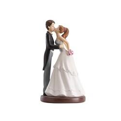 Couple de mariés bisou 16,5 cm