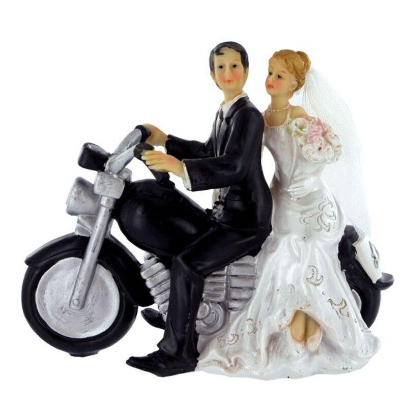 Couple de mariés Moto 14 cm