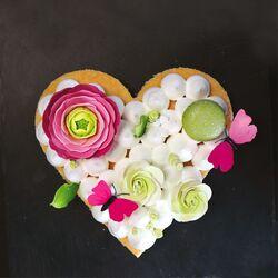 Cercle à pâtisserie coeur inox 20 cm