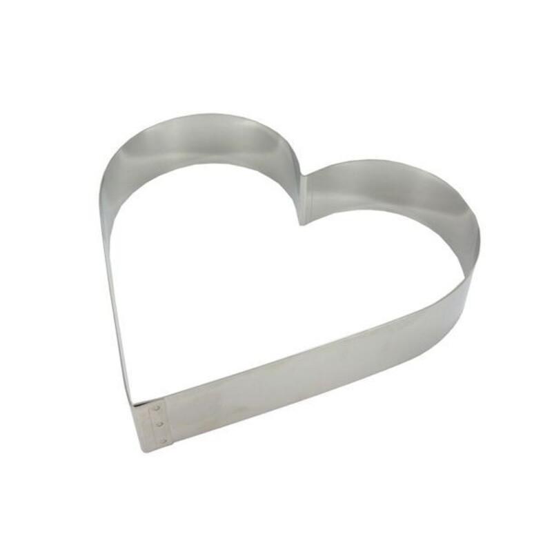 Cercle coeur inox 20 cm
