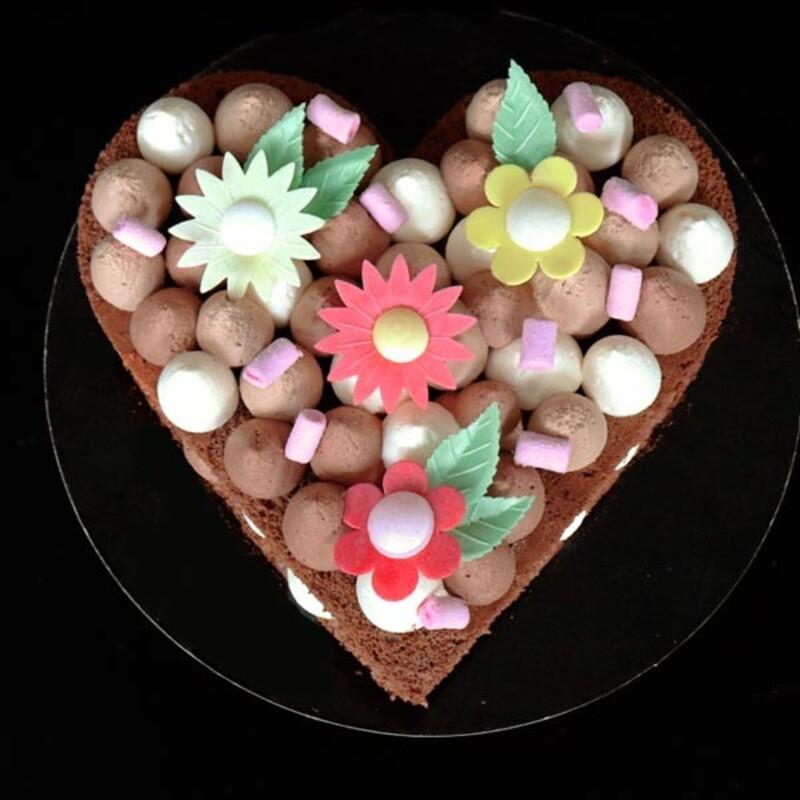 Pack recette Heart Cake au Chocolat