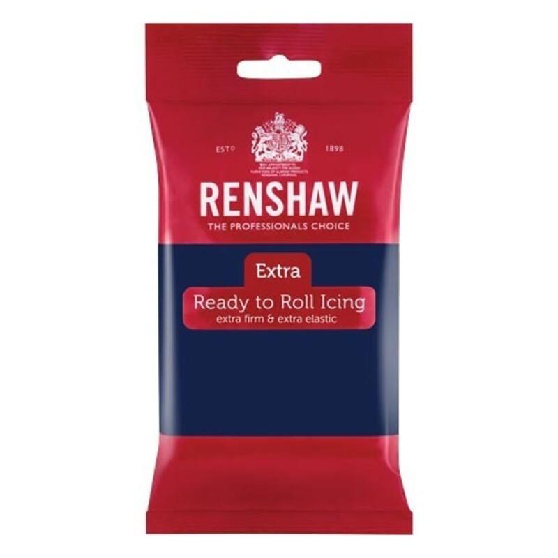 Pâte à sucre Renshaw Extra bleu marine 250 g
