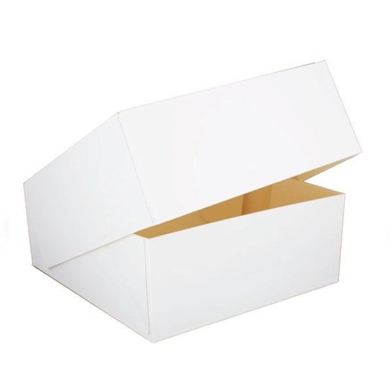 Boîte à entremets blanche H 8 cm Patisdécor
