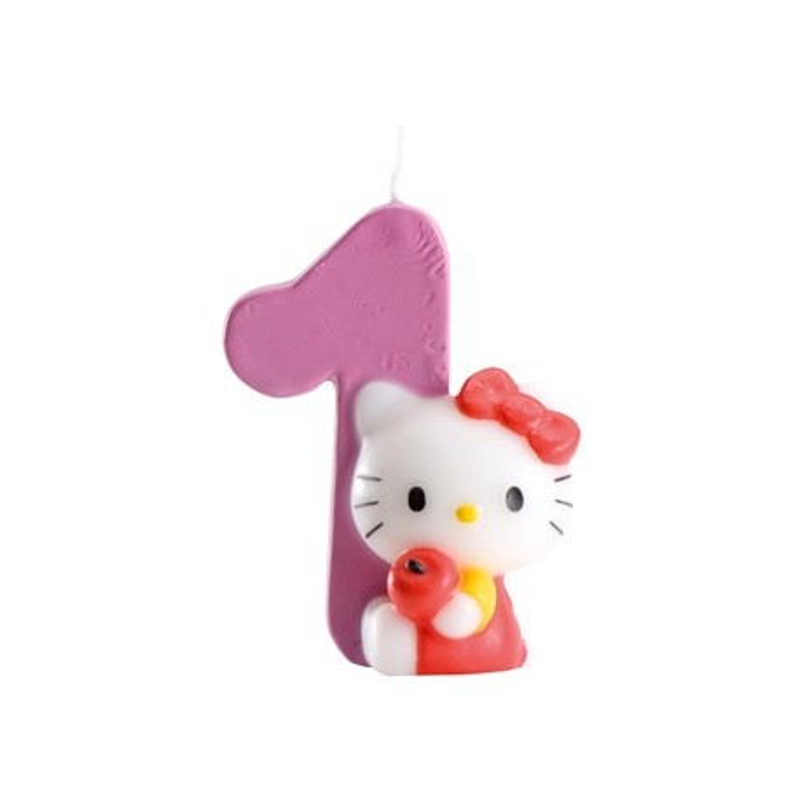 Bougie Hello Kitty chiffre 1