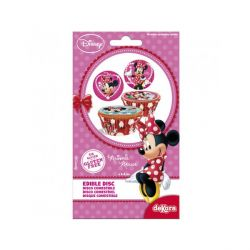 Disques cupcakes Minnie 3,4 cm (x18)