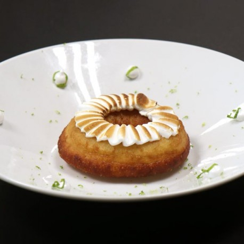 Donuts au citron meringué
