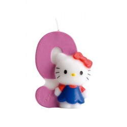 Bougie Hello Kitty chiffre 9
