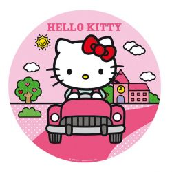 Disque gâteau Hello Kitty 16 cm