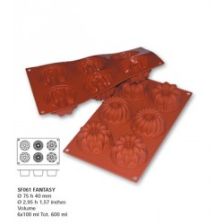 Moule silicone 6 empreintes fantaisie