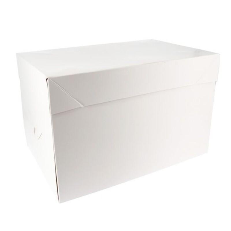 Boîte à gâteau blanche 21 x 31 cm Patisdécor