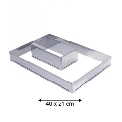 Petit cadre inox rectangle extensible