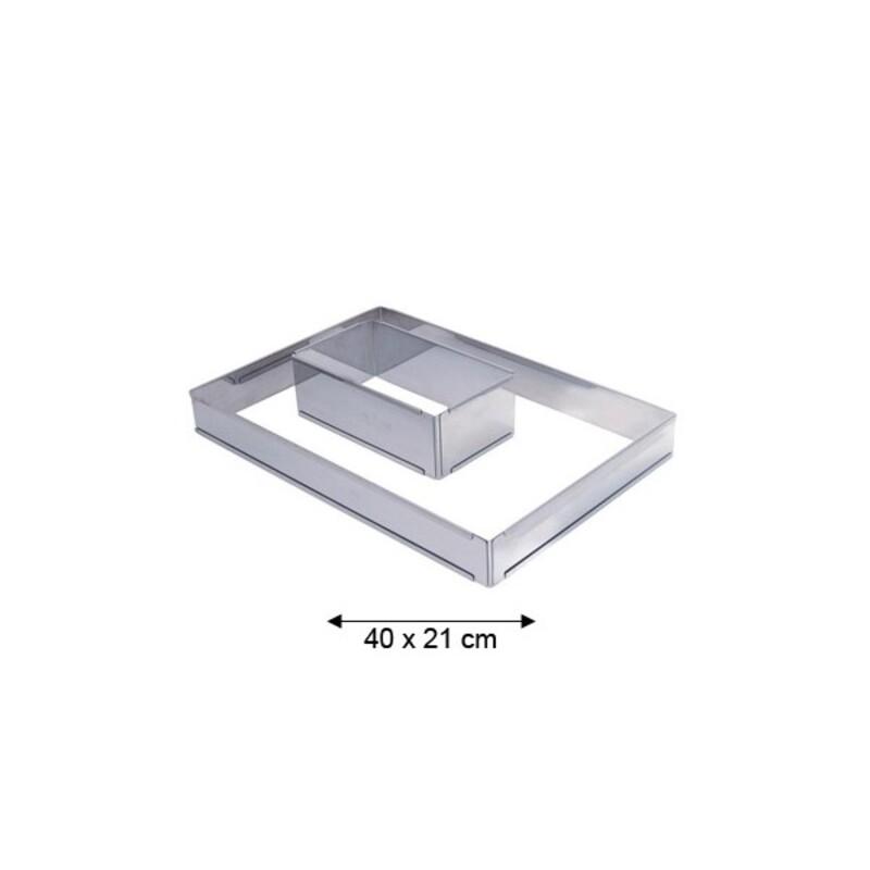 Petit cadre inox rectangle extensible