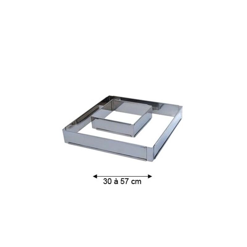 Cadre inox extensible carré 30 à 57 cm