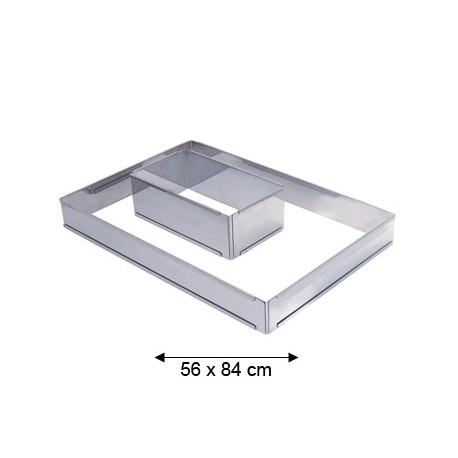 Grand cadre inox rectangle extensible