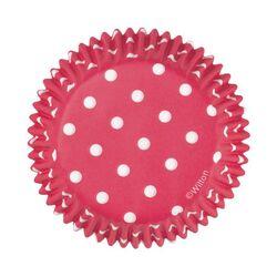 Caissette cupcake rouge à pois Wilton (x75)