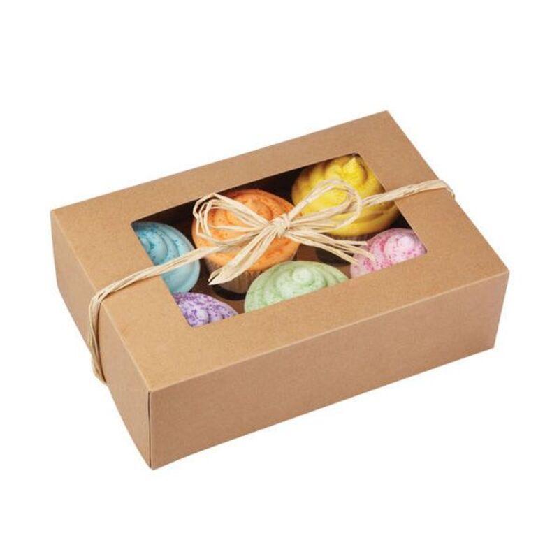Boîte en kraft 6 cupcakes Wilton (x2)
