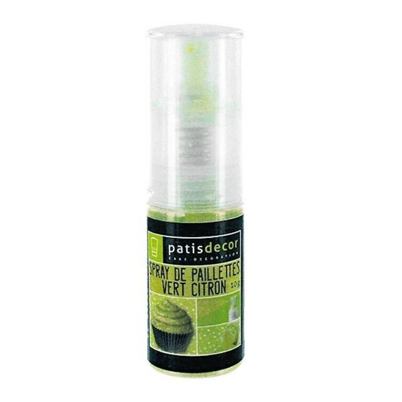 Spray de paillettes vert citron Patisdécor 10 g