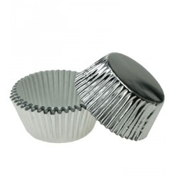 Caissettes cupcakes argent (x30)