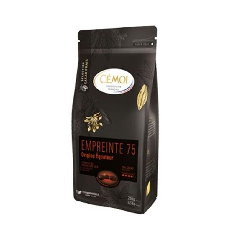 Chocolat noir Equateur Empreinte 75 en palets 1 kg