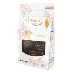 Chocolat noir Succession 64% palets 1 kg Cémoi