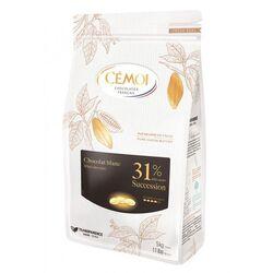 Chocolat blanc Succession 31% palets 1 kg Cémoi