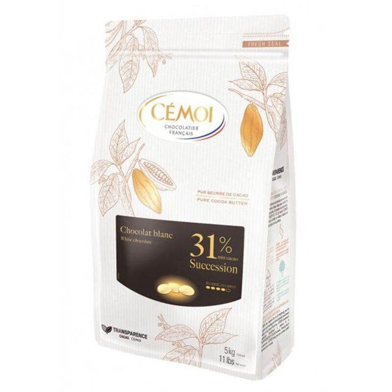 Chocolat blanc Succession 31% Cémoi 1 kg