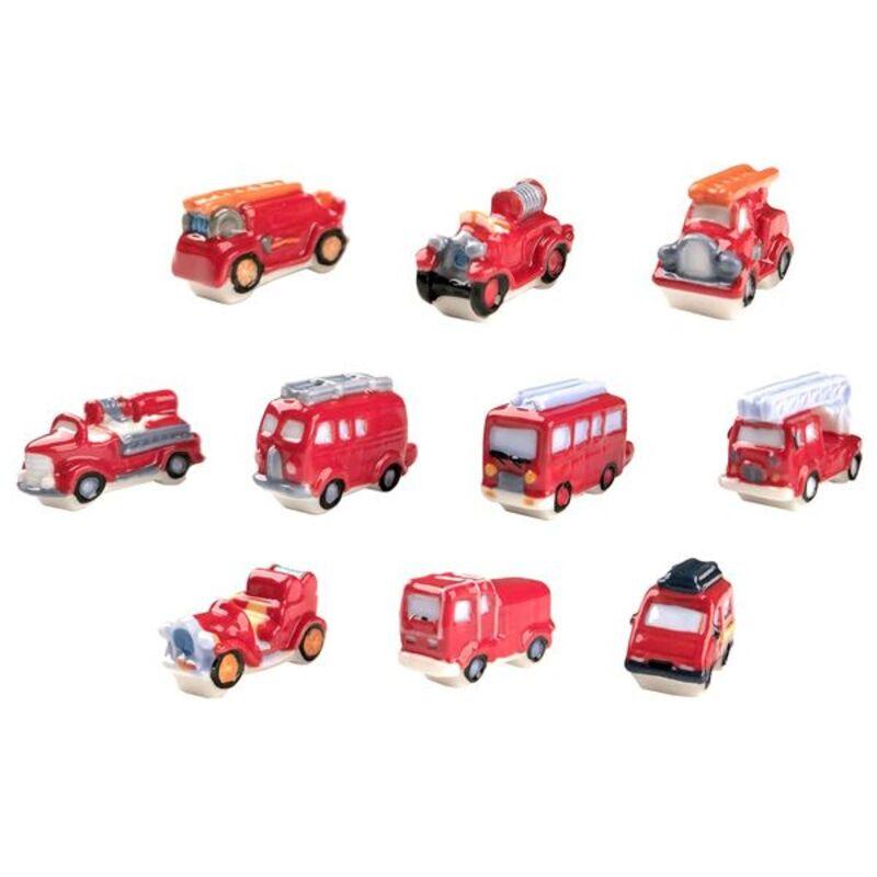 Fèves camions de pompiers Patisdécor (x10)