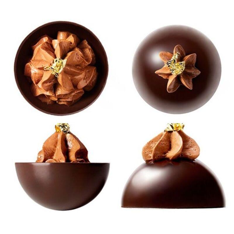 Dômes de chocolat noir Mona Lisa (x28)