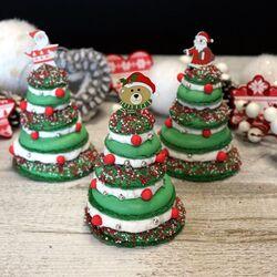 Coffret Mes Macarons Sapins de Noël