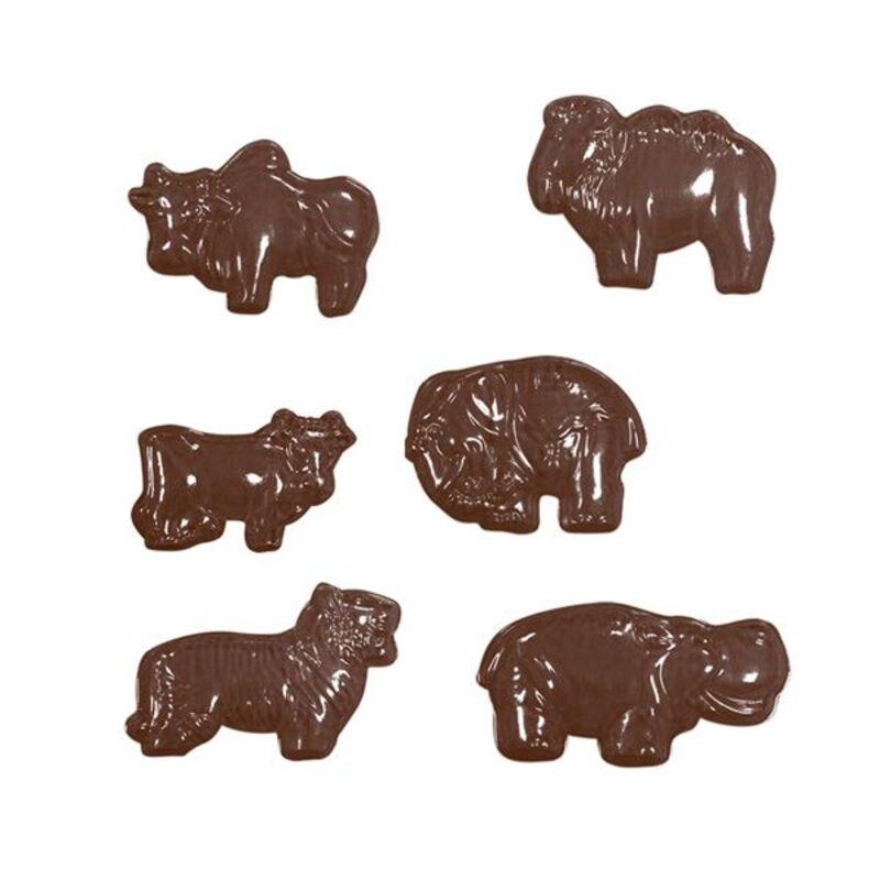 Moule à chocolats Animaux assortis