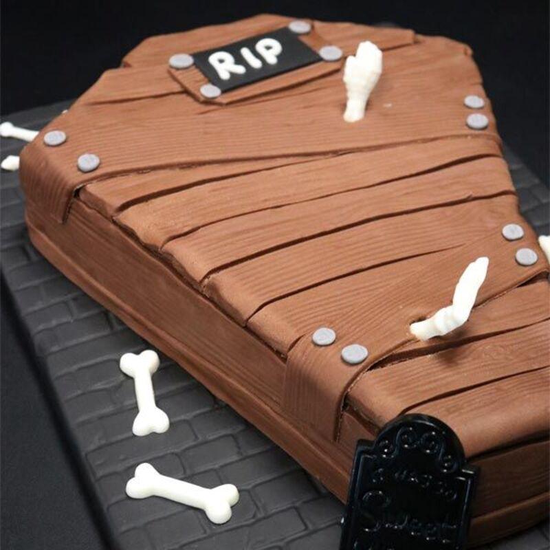 Pack Gâteau Cercueil en Pâte à sucre