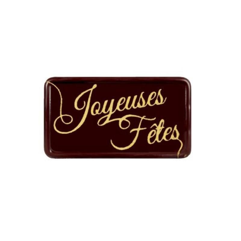 Rectangles chocolat Joyeuses Fêtes (x64)
