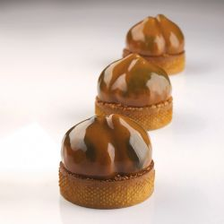 Moule mini tarte 3D Marrons Pavoni