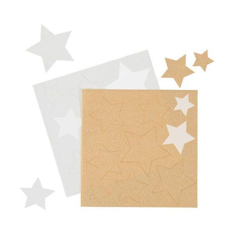Feuilles comestibles étoiles métallisées or et blanc Wilton (x18)