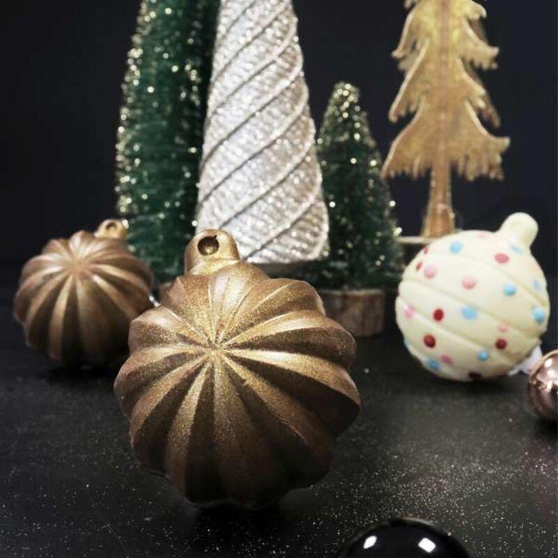 Pack Boule de Noël Etoile en Chocolat