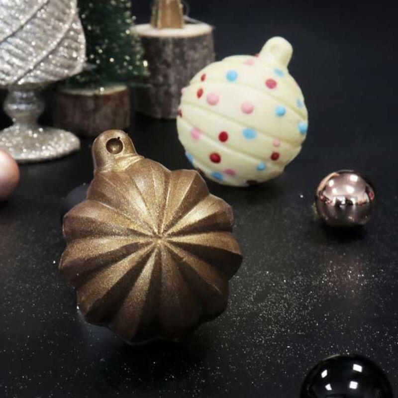 Pack Boule de Noël en Chocolat Blanc