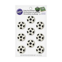 Ballon de football comestibles Wilton (x9)