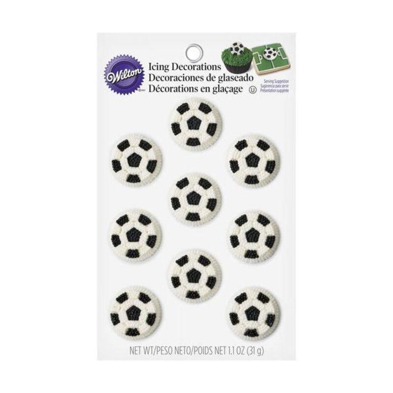 Ballon de football comestibles Wilton (x9)