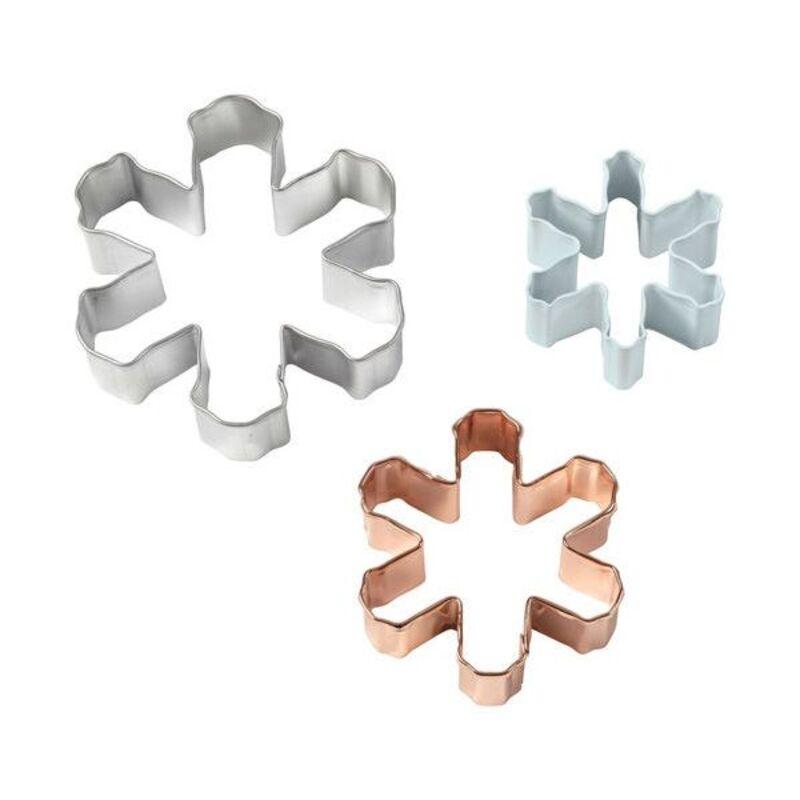 Emporte-pièces Flocons de Neige assortis (x3)