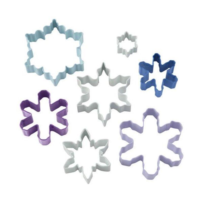 Emporte-pièces Flocons de Neige assortis Wilton (x7)