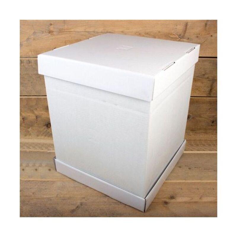 Boîte à gâteau blanche 37 cm