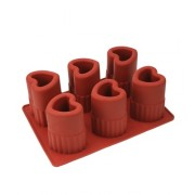 Moule silicone 6 ice-shot coeurs