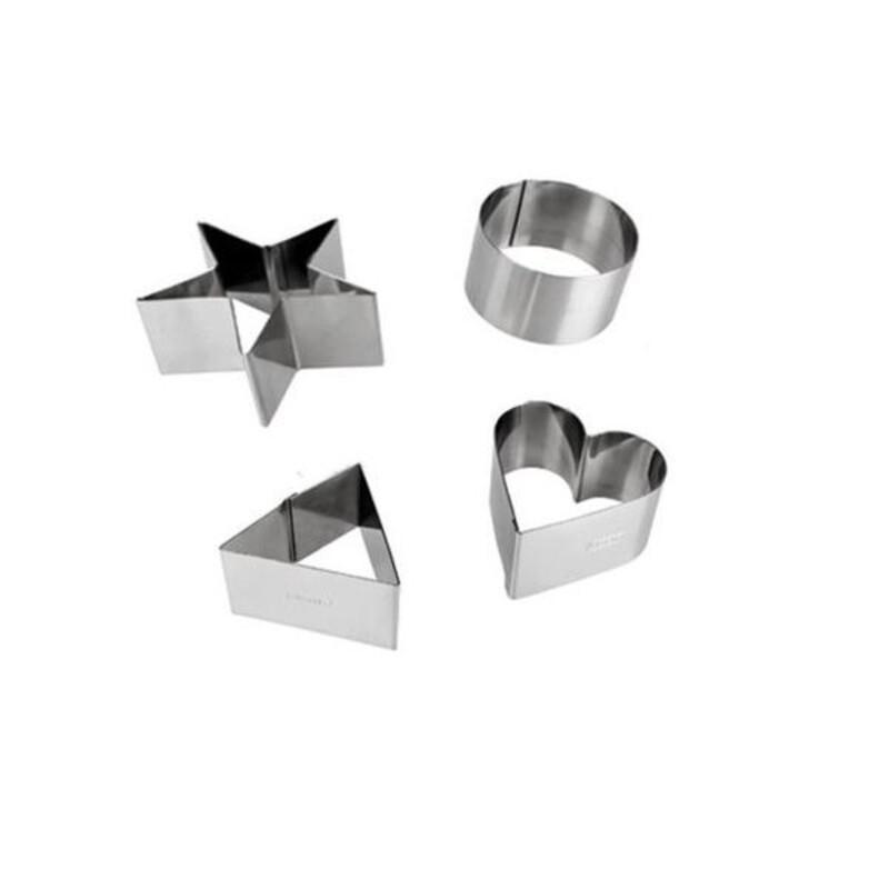 Cercles de présentation inox assortis H 5 cm