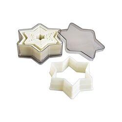 Découpoirs étoiles lisses plastique assortis (x7)