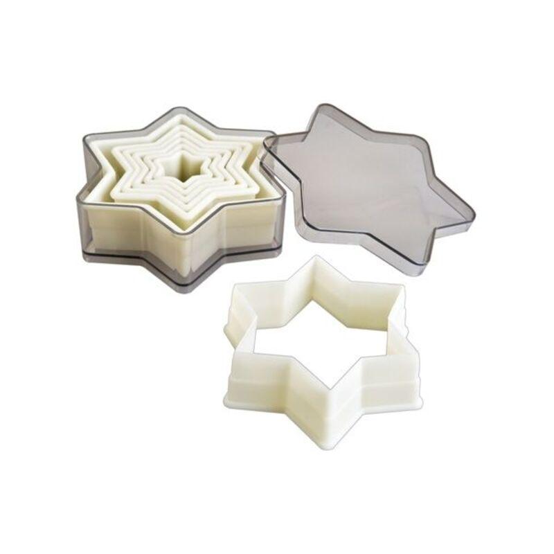 Découpoirs étoiles lisses plastique (x6)